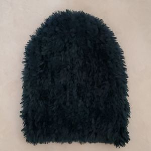 NWOT Free People Head In The Clouds Green Beanie